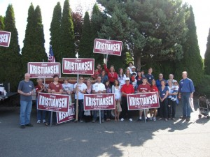 Volunteers to re-elect Dan Kristiansen
